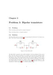 Problem 3: Bipolar transistors