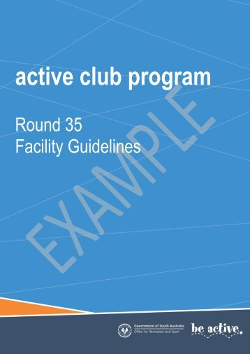 active club program - Office for Recreation and Sport - SA.Gov.au
