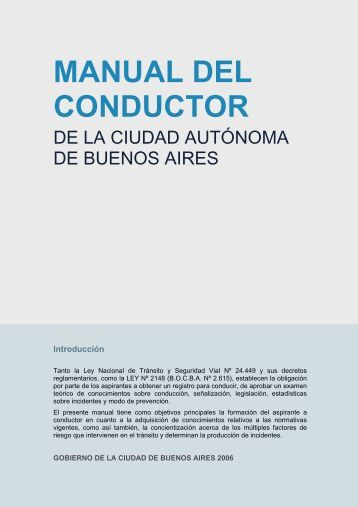 Manual del Conductor (CABA) - volver al registro