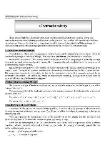 Electrochemistry - TestBag