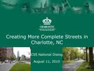 Creating More Complete Streets in Charlotte, NC - (CSS) National ...