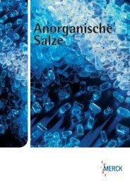 Anorganische Salze Anorganische Salze