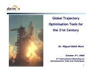 Global Trajectory Optimisation Tools for the 21st Century - ESA