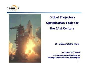Global Trajectory Optimisation Tools for the 21st Century - ESA