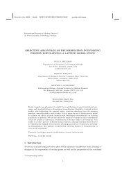 October 18, 2005 13:46 WSPC/INSTRUCTION FILE ... - David Pollock