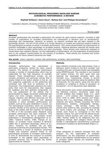 Dolléans, R. et al.: Psychological processes ... - Sport Science