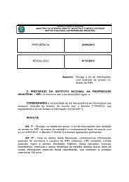 Resolução 91 - 2013 - Divulga o rol de informações com res… - Inpi