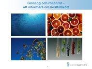 Kosttillskott - Dagens Apotek