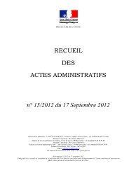 recueil n°15 - Les services de l'État dans l'Yonne
