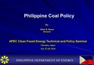 Philippine Coal Policy - Expert Group on Clean Fossil Energy