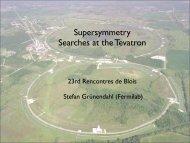 Supersymmetry Searches at the Tevatron - rencontres de blois