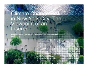 Climate Change Risk in New York City: The Viewpoint of an Insurer