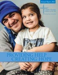 providing help creating hope - Catholic Charities Annual Report