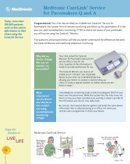 Medtronic CareLink® Service for Pacemakers Q and A