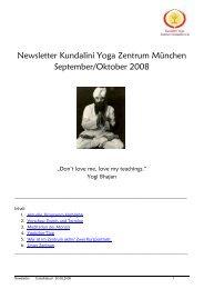 Newsletter Kundalini Yoga Zentrum München September/Oktober ...