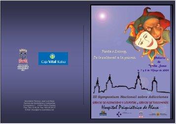 III Symposium Nacional sobre Adicciones - EXTRANET - Hospital ...