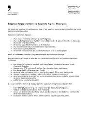 Exigences d'engagement à l'école d'aspirants de police fribourgeoise