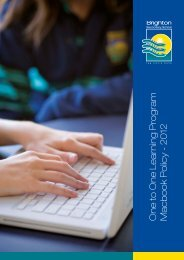 One to One Learning Program Macbook Policy - Brighton Secondary ...