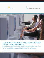 Report: Aligning Community Colleges to their Local Labor Markets