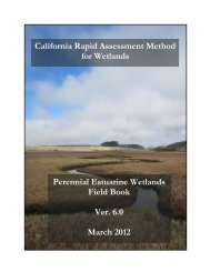 California Rapid Assessment Method for Wetlands Perennial ... - Cram