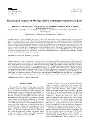 Physiological response of Moringa oleifera to stigmasterol and ...