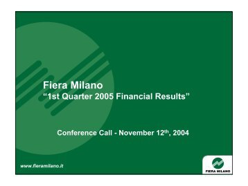 Conference Call - Fiera Milano