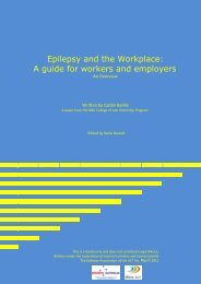 Epilepsy and the Workplace: A guide for workers ... - Epilepsy Australia
