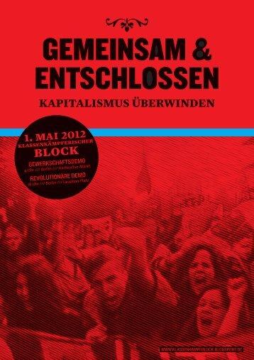 Aufruf als PDF - Klassenkampfblock - blogsport.de