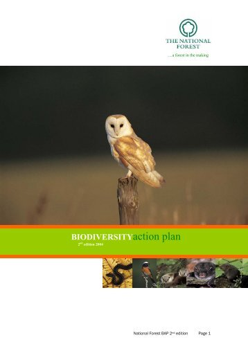Biodiversity Action Plan 2004 - The National Forest Company