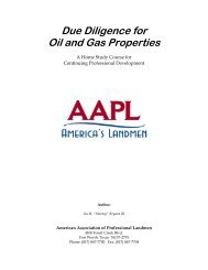 Due Diligence for Oil and Gas Properties - American Association of ...