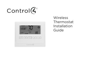 Wireless Thermostat Installation Guide and the Control4