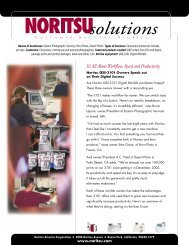 It's All About Workflow, Speed and Productivity - Noritsu America ...