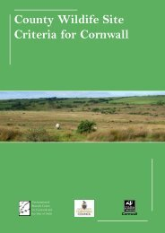 County Wildife Site Criteria for Cornwall - Cornwall Wildlife Trust