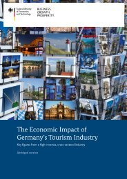 The Economic Impact of Germany's Tourism Industry - BMWi