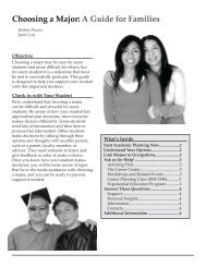 Choosing a Major: A Guide for Families - The Career Center ...