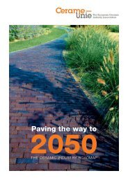 Ceramic Roadmap 'Paving the Way to 2050' - Cerame-Unie