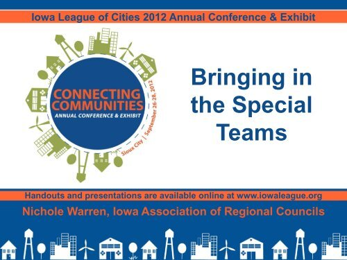 Bringing in the Special Teams - Iowa League of Cities