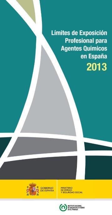 Límites de exposición profesional para agentes químicos 2013 (pdf ...