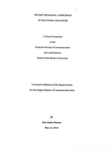 Hansen, John Andor - Eastern New Mexico University