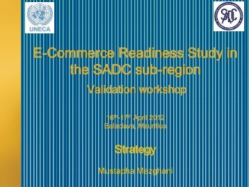 SADC E-Commerce Strategy - ICTA
