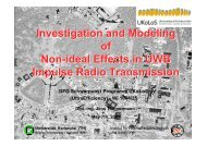 Investigation and Modeling of Non-ideal Effects in UWB Impulse ...