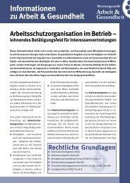 Arbeitsschutzorganisation im Betrieb - Beratungstelle Arbeit ...