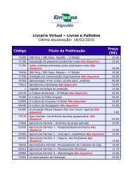 Livraria Virtual – Livros e Folhetos Última ... - Embrapa Algodão