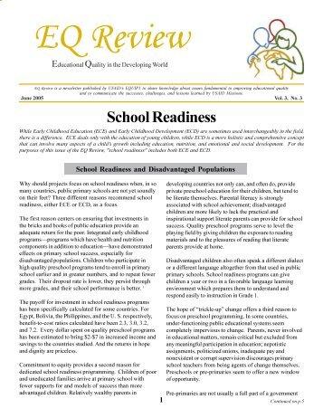 School Readiness - EQUIP123.net