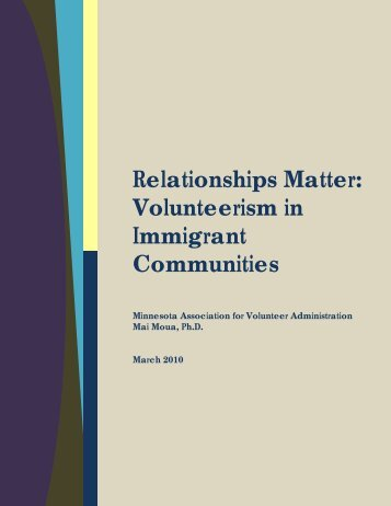Volunteerism in Immigrant Communities - United Front