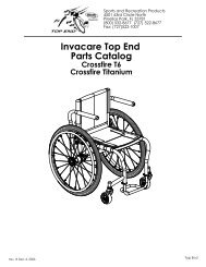 Invacare Top End Parts Catalog