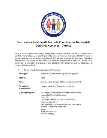 Concurso Nacional de Afiches de la Coordinadora Nacional de ...