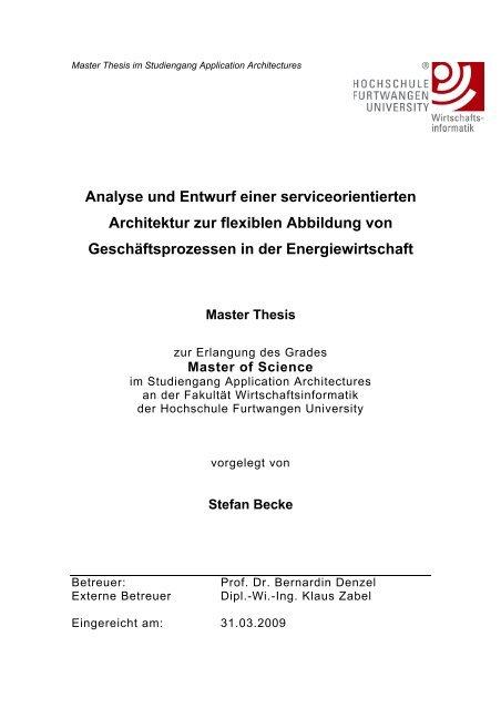 thesis hs furtwangen