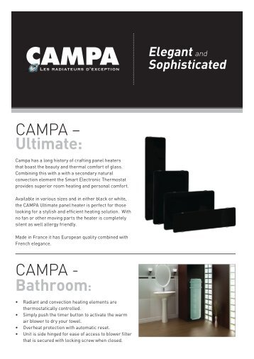 CAMPA – Ultimate: CAMPA - Bathroom: