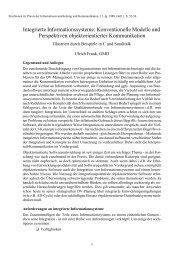 Integrierte Informationssysteme: Konventionelle Modelle und ...